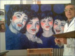 La obra en el estudio de pintura del CBA en Mayo del 2.013